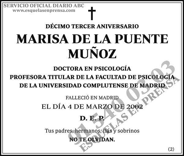 Marisa de la Puente Muñoz